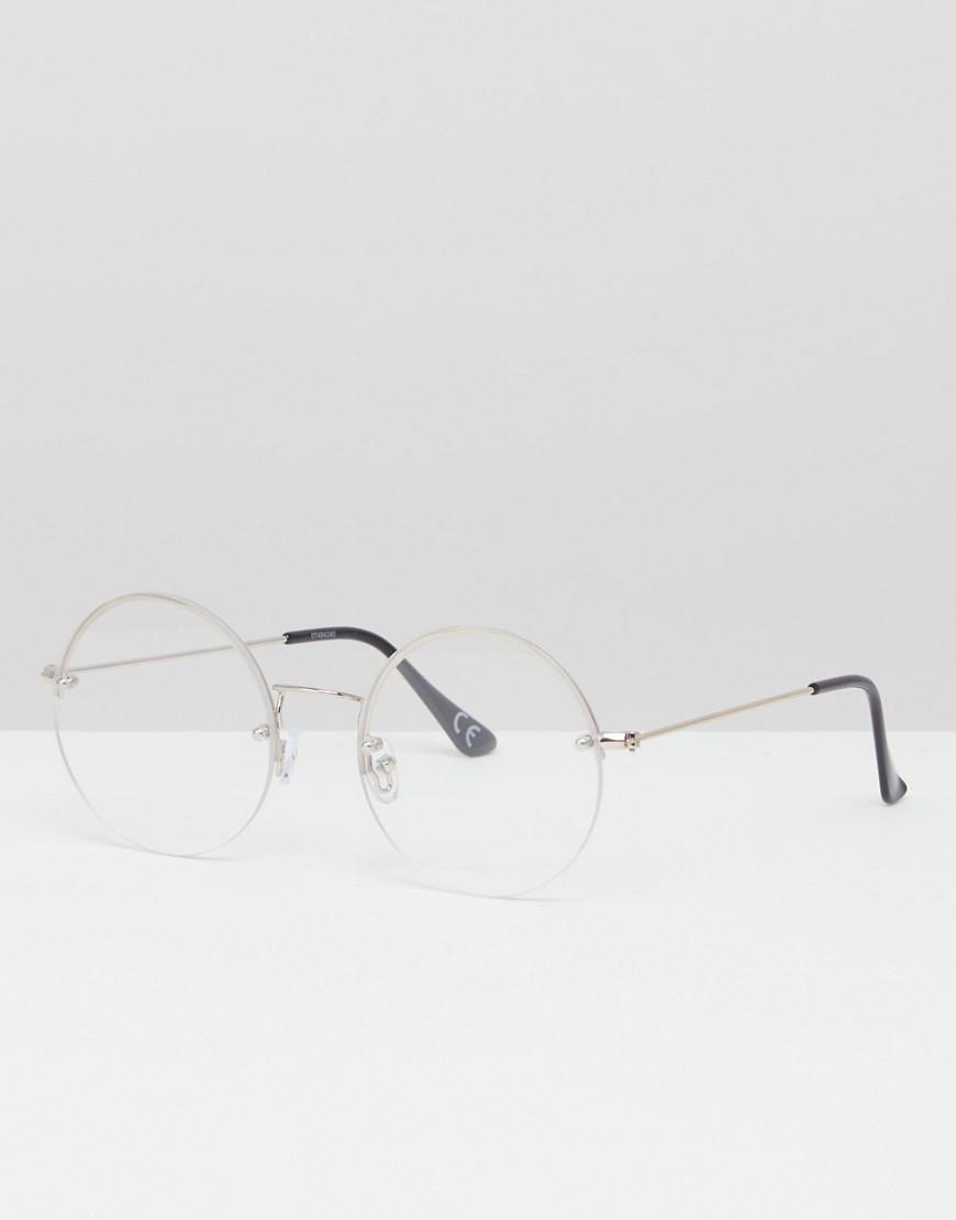 31427aff6 Gafas transparentes redondas con montura plateada al aire de ASOS de ...