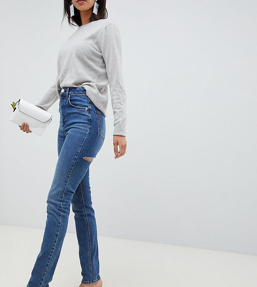 520c7ca3d ASOS. Women's Blue Asos Design Tall Farleigh High Waist Slim Mom Jeans ...