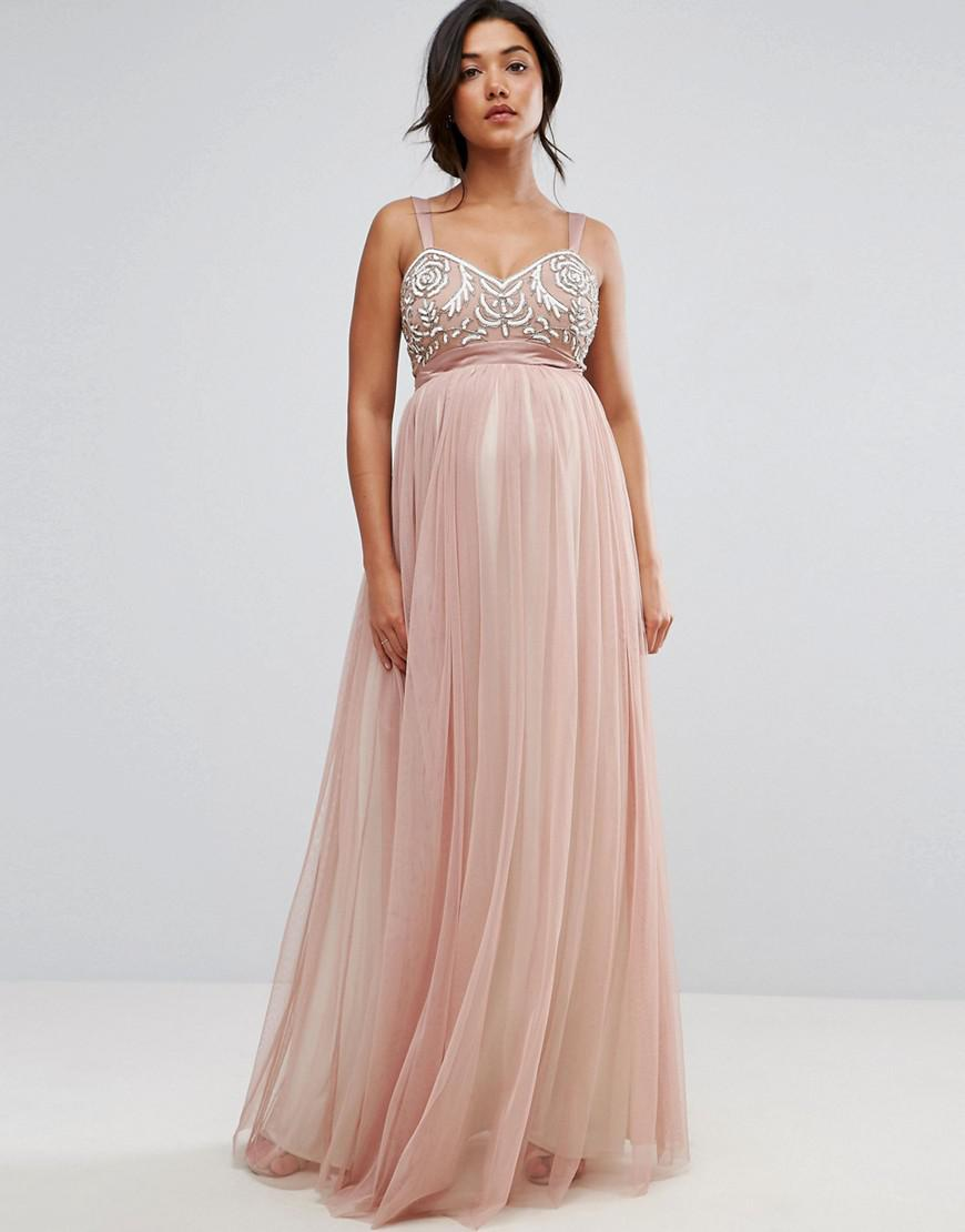 Lyst - Maya Maternity Embellished Bodice Cami Tulle Skirt And Bow ...