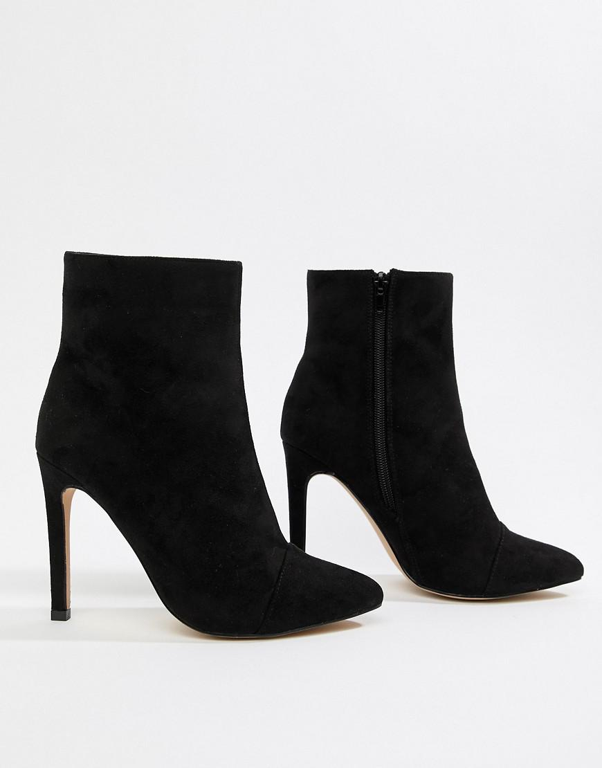 83ea9b403461 Lyst - London Rebel Stiletto Ankle Boots in Black