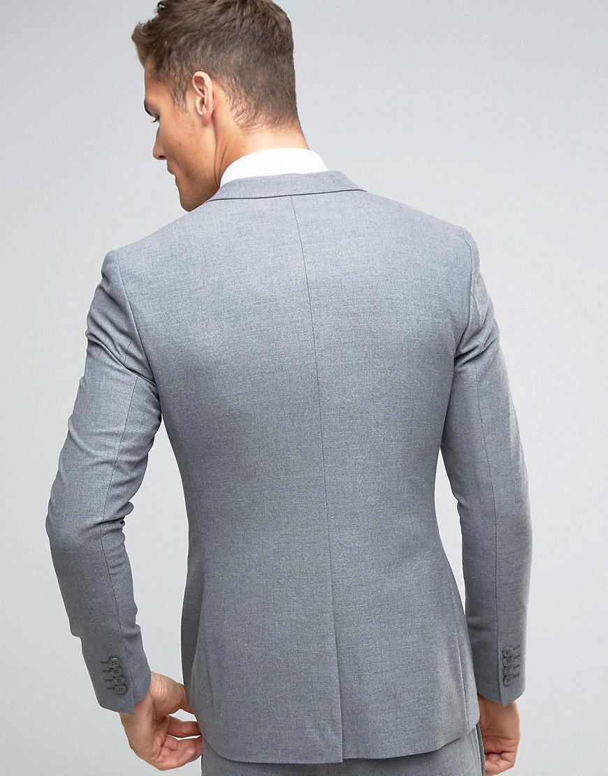 Lyst - Asos Wedding Super Skinny Suit Jacket In Gray in Gray for Men