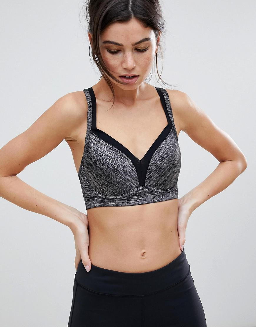 6ed54649977af Lyst - DORINA Outrun High Impact Push-up Sports Bra In Grey in Gray
