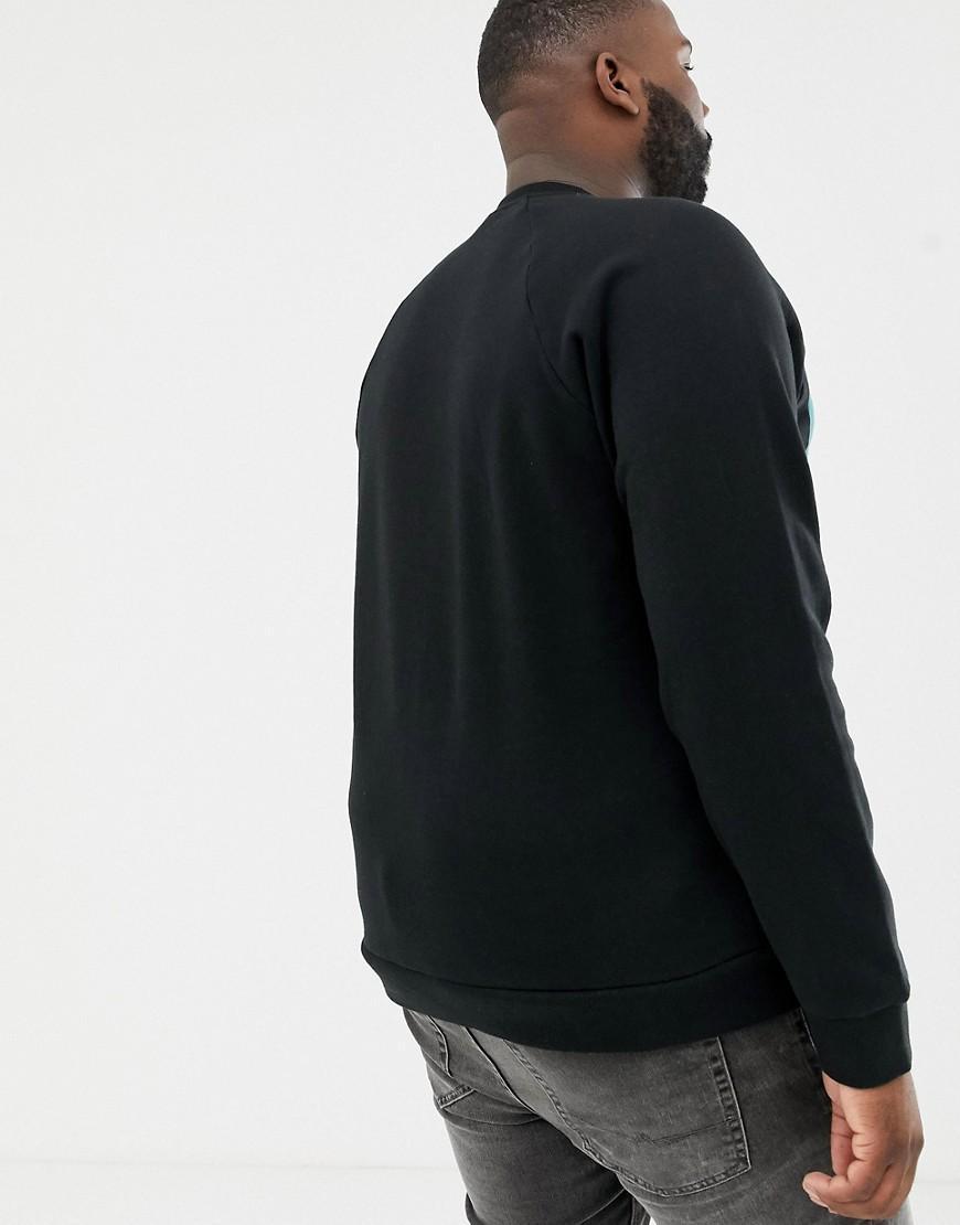 5377b90d54b6 Lyst - Fila Plus Black Line Emmett Logo Panel Sweatshirt In Black in Black  for Men