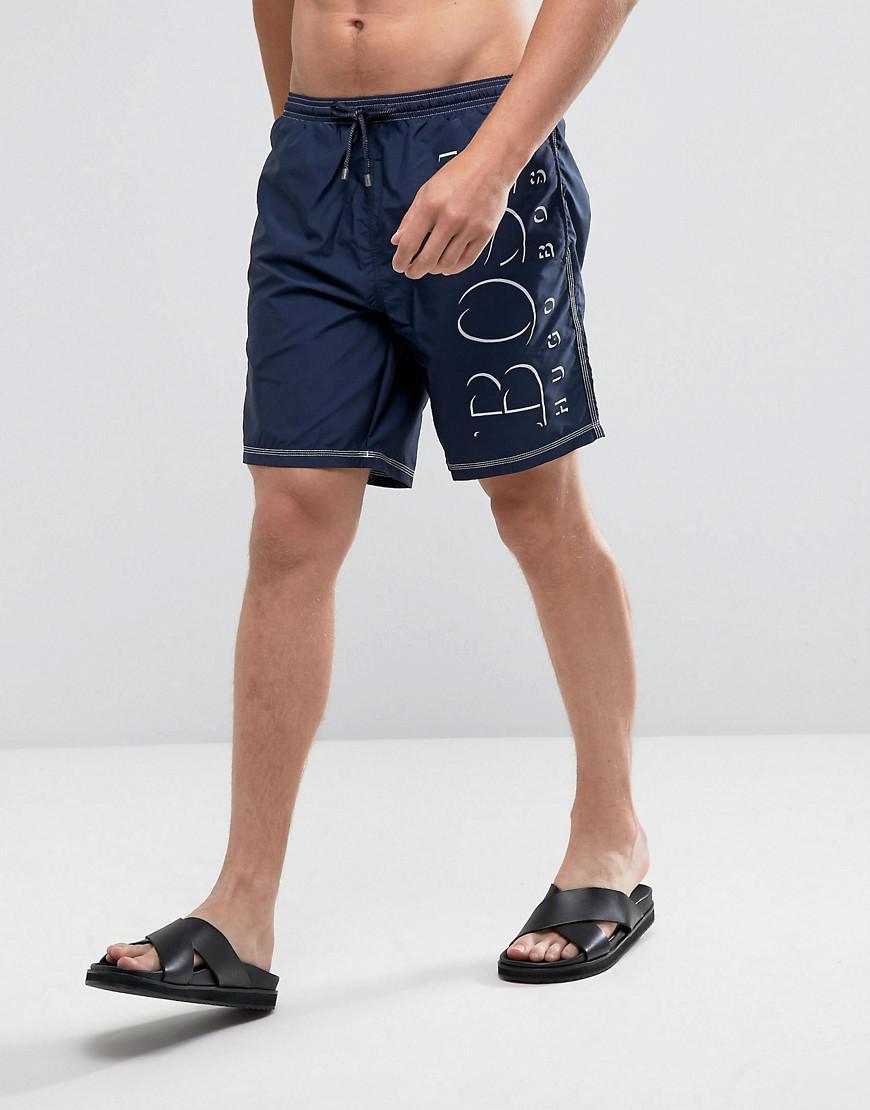 88216ce110 Lyst - BOSS Killifish Logo Swim Shorts in Blue for Men