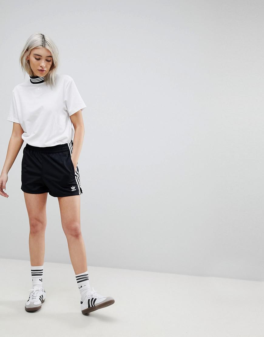 adicolor Three Stripe Shorts In Black - Black adidas Originals ZUsF4w
