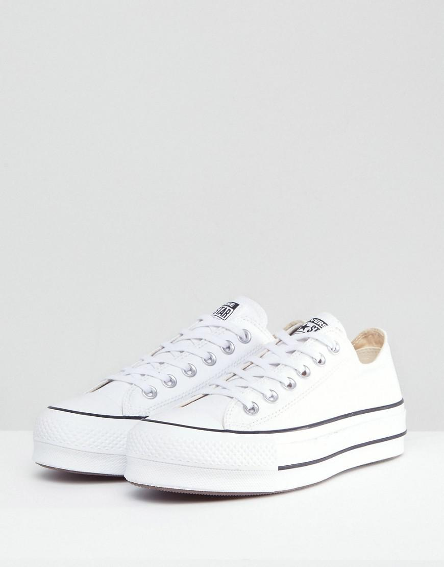 Lyst - Converse Chuck Taylor All Star Platform Ox Sneakers In White in White fe5b69d87