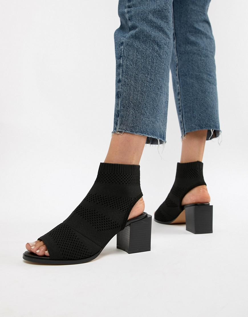 6df251b63c3c Asos Roman Knitted Shoe Boots in Black - Lyst