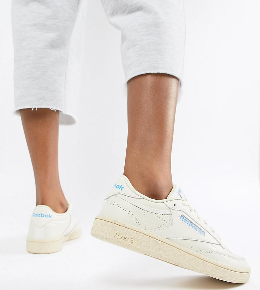 179f0a24681a8 Reebok Club C 85 Chalk Trainers in White - Lyst