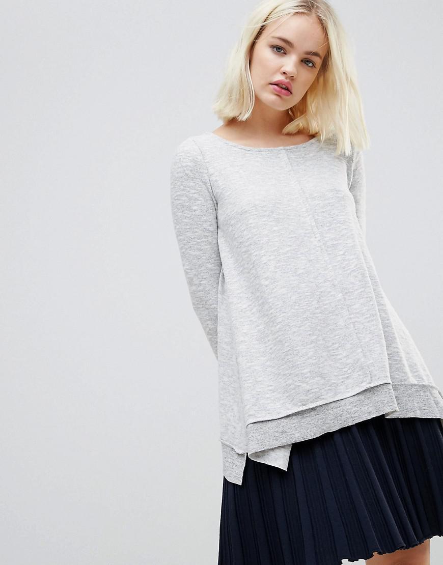 ba626c39d Lyst - Hazel Relaxed Oversized Sweater in Gray