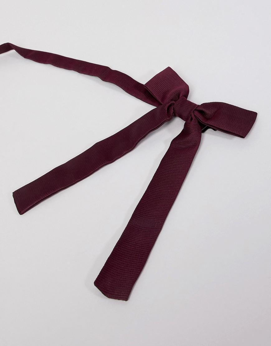 9c1705f2ba1c3 ASOS Western Bow Tie In Burgundy in Red for Men - Lyst