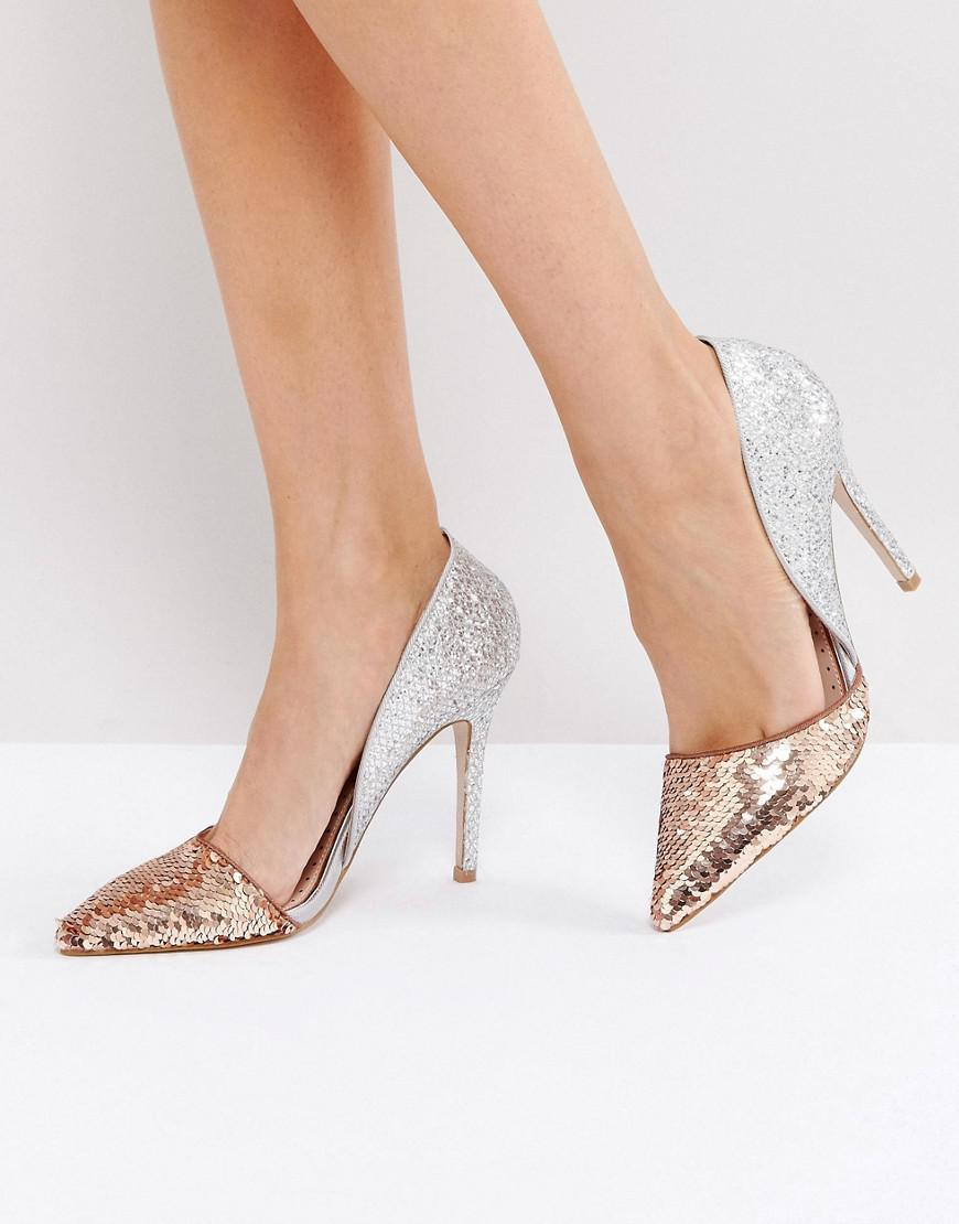 in China cheap online Miss KG Andrea Sequin Court Shoes free shipping amazon v6isKE0TLU