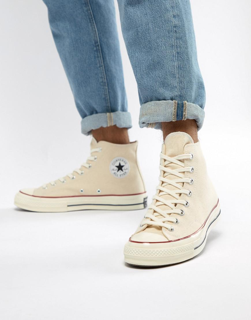 6d81b897d2e2 Lyst - Converse Chuck Taylor All Star  70 Hi Sneakers In Parchment ...