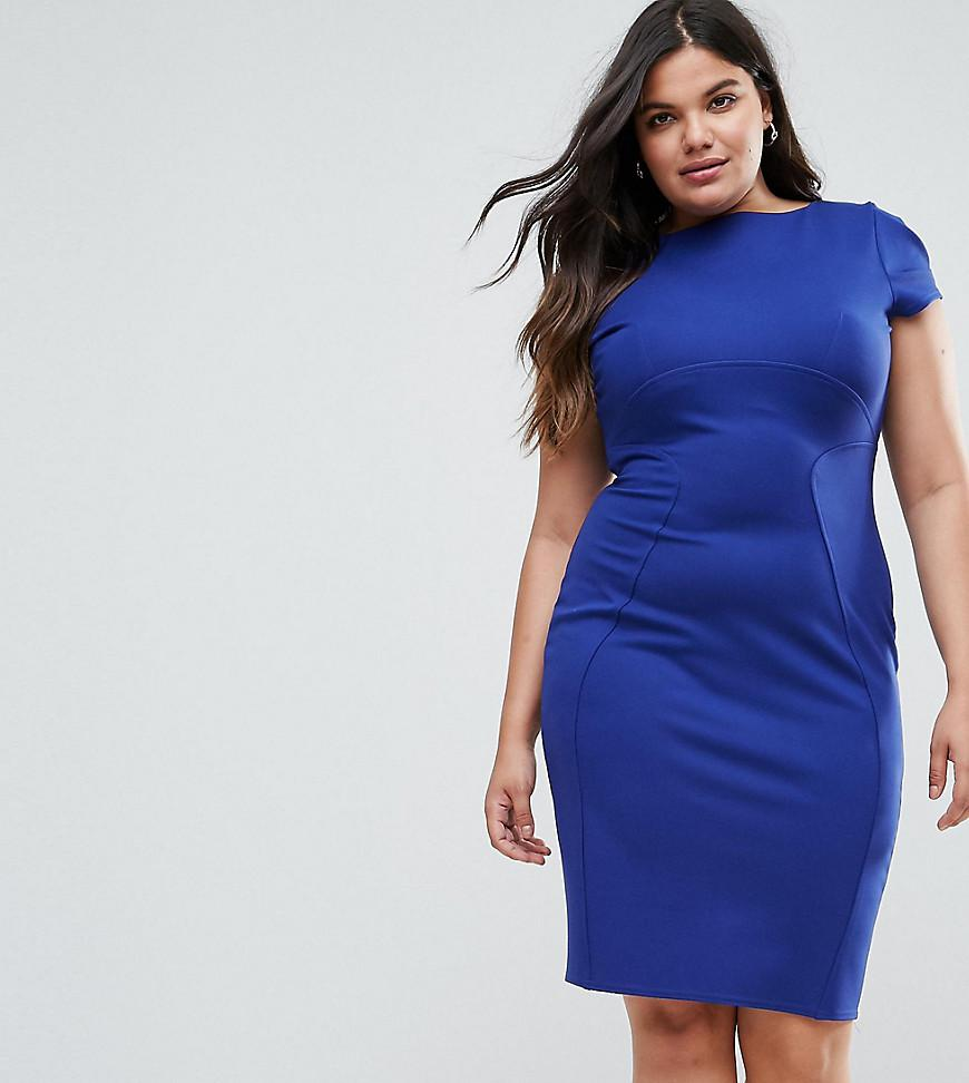 pencil dress with ruched cap sleeve in blue - Cobalt Closet Where To Buy Cheap Shop Offer Very Cheap Cheap Online Y5B9X