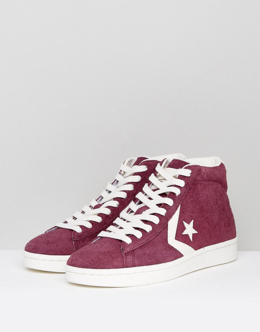 34ac06fa001 Converse Pro Leather 76 Mid Trainers In Purple 157691c626 in Purple for Men  - Lyst