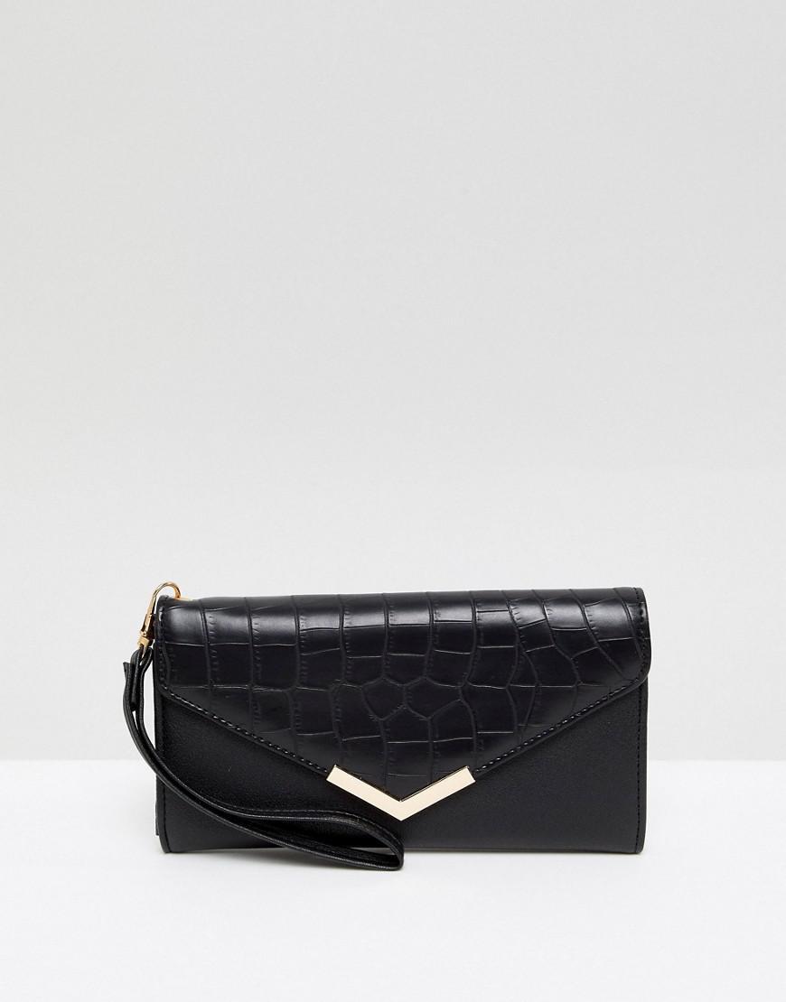 Black Purse with Pearl Embellishment - Black Yoki Fashion K362zJb5
