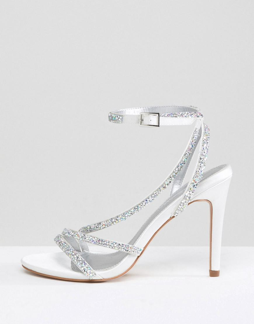 b97bf0bee5c0 Lyst - ASOS Hypnotic Wide Fit Bridal Embellished Heeled Sandals
