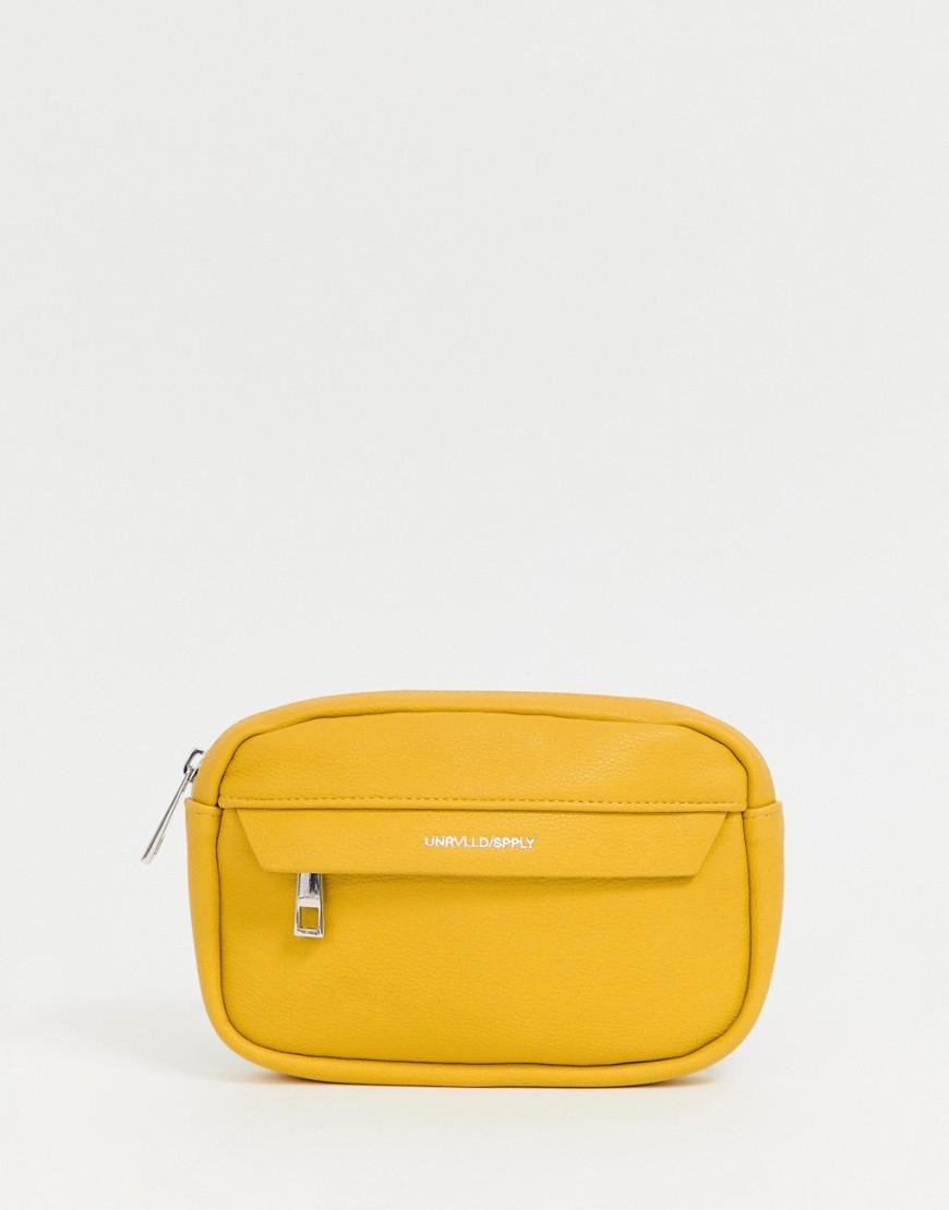 e4659e737b9 Lyst - ASOS Faux Leather Bum Bag In Yellow in Yellow for Men