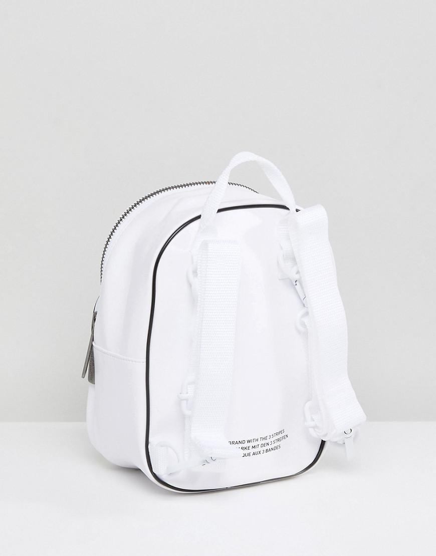 2a31b20b16 Lyst - adidas Originals Mini Backpack In White Faux Leather in White