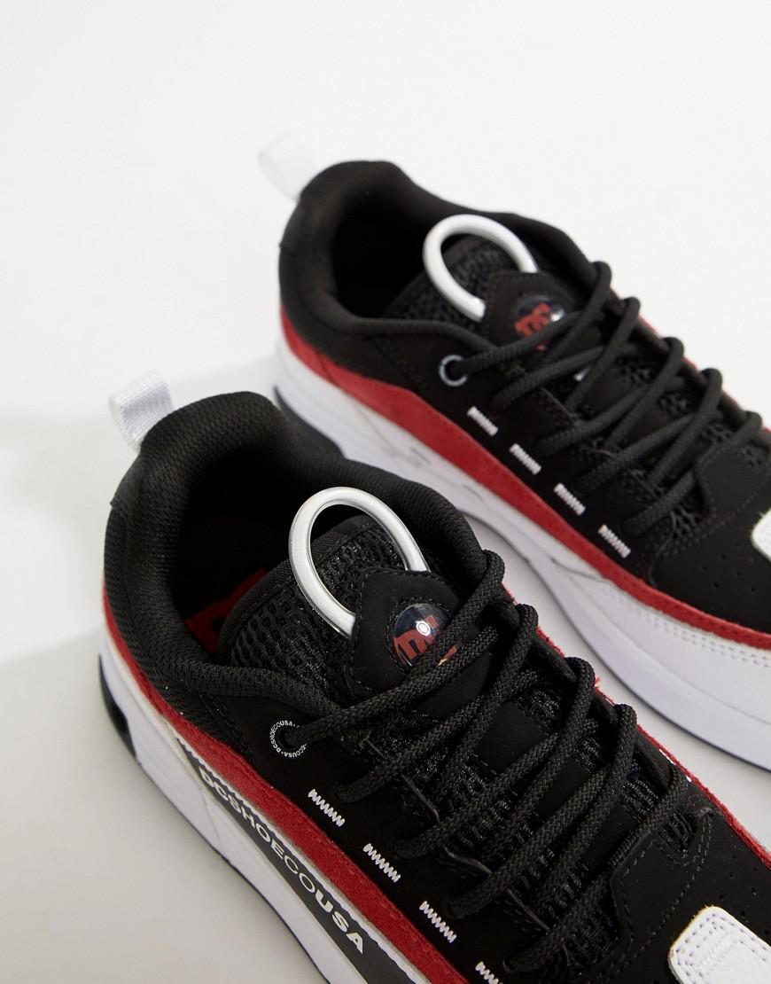 0a158e8564 Lyst - DC Shoes Legacy 98 Slim Trainer In Black   Red in Black for Men