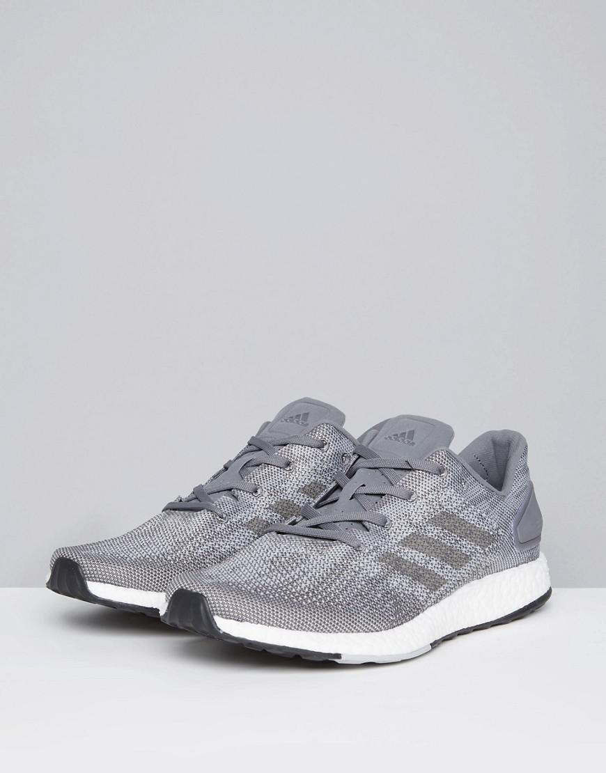 f8c3ab4946703 Lyst - adidas Running Pureboost Dpr In Grey Bb6290 in Gray for Men