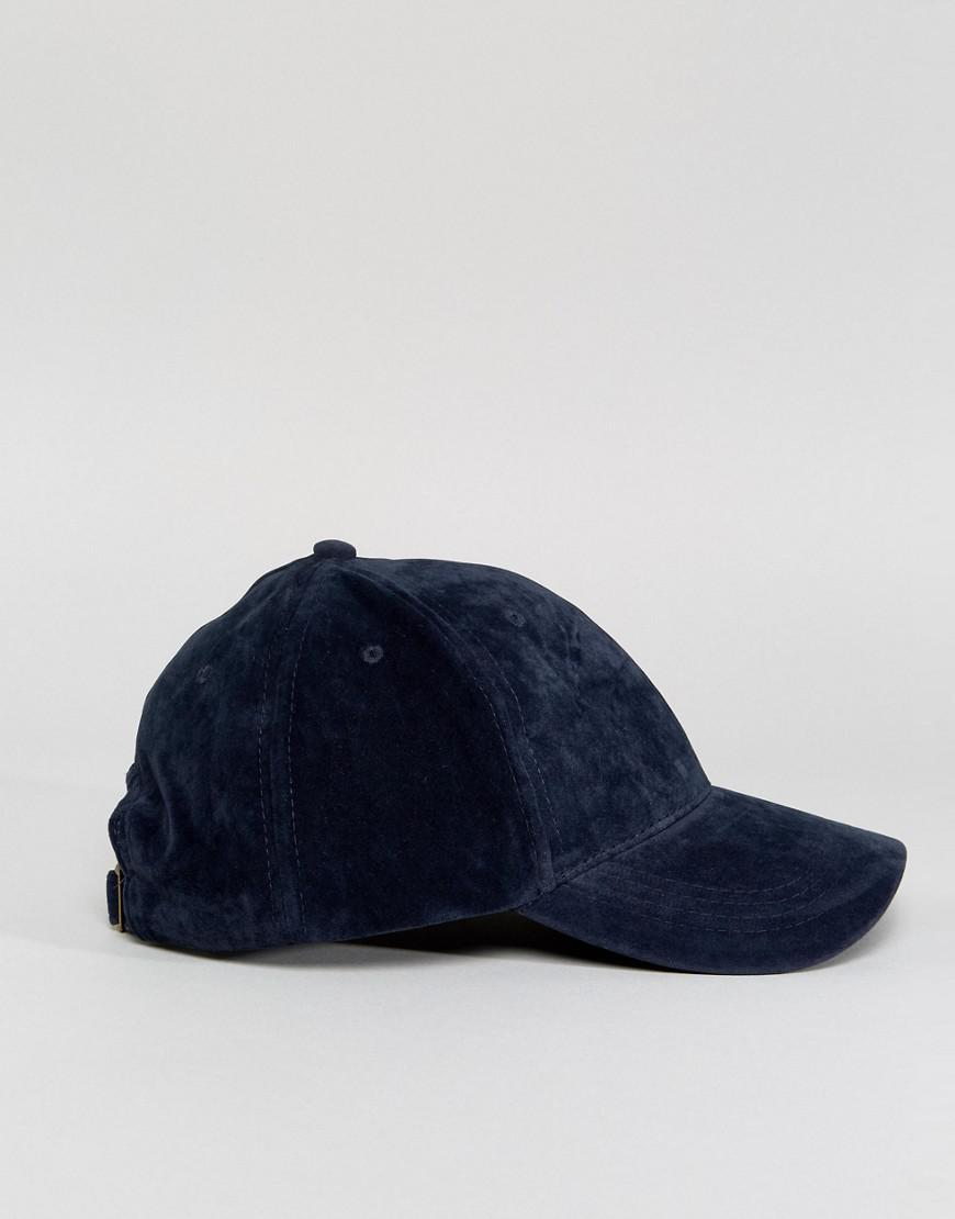 8db8cf43c51a8a Lyst - New Look Faux Suede Baseball Cap In Navy in Blue for Men