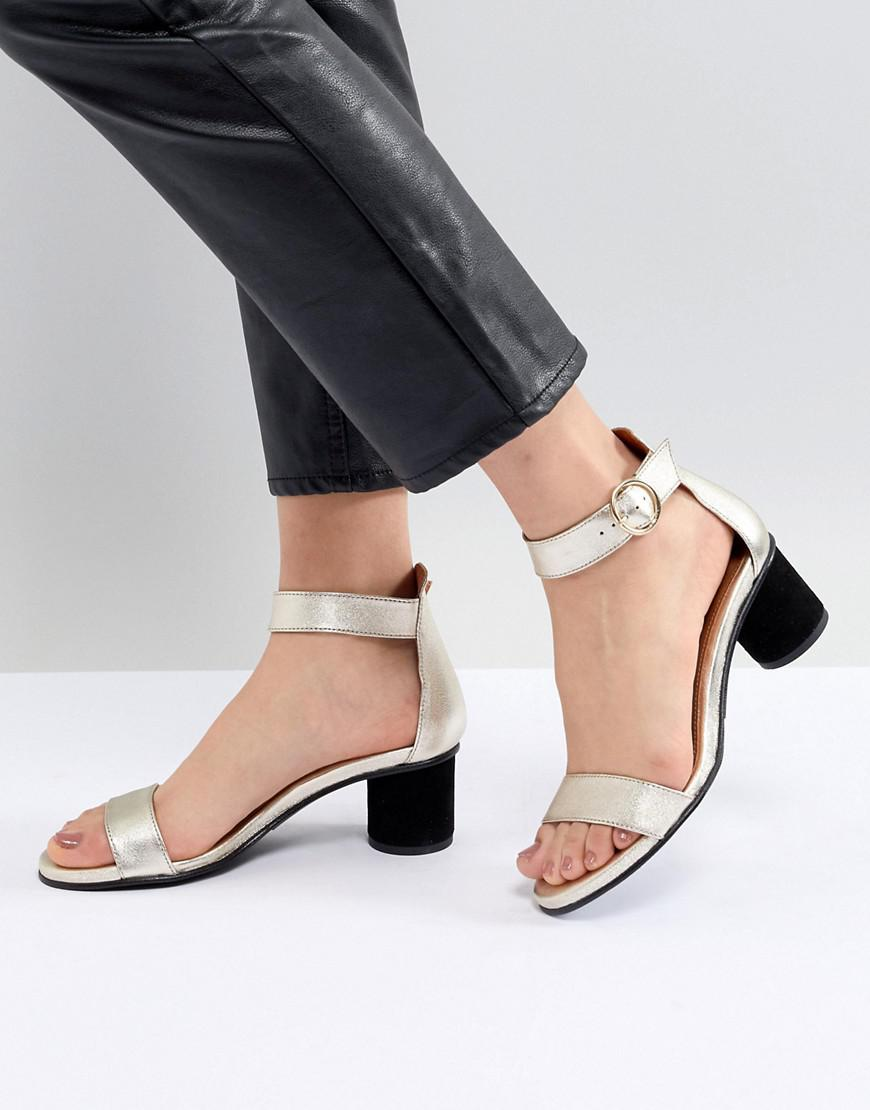 Metallic Heeled Sandal - Gold Selected x29rUe1h