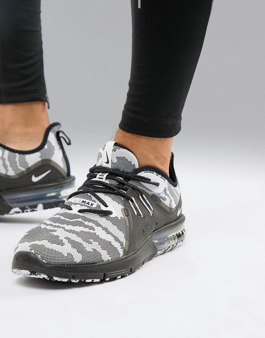 b723b7a27077f Nike Air Max Sequent 3 Trainers In Black Camo Ar0251-001 in Black ...