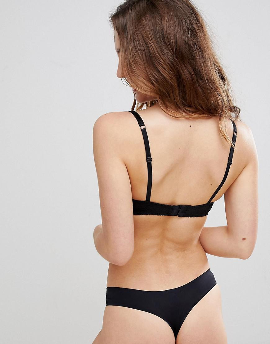 61acd8e1e0 Lyst - New Look Essentials Push Up Bra in Black