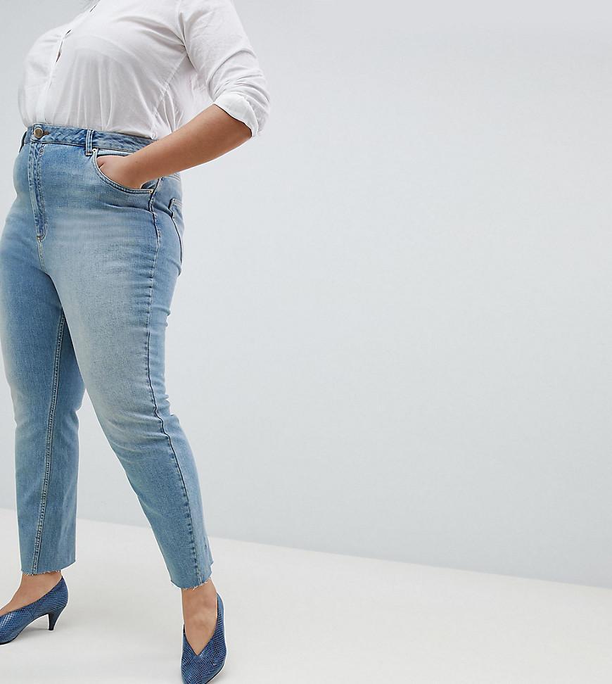 Conception Farleigh Haute Jambe Droite Taille Jeansin Bronco Découpé En Clair Milieu Bleu Clair - Milieu Asos Bleu 2aBOTR