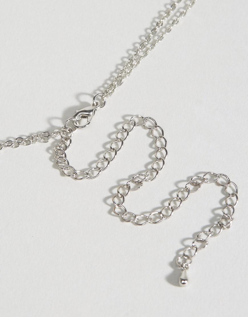 98d7d08f94553 Lyst - Asos Fine Chain Bralette Harness in Metallic