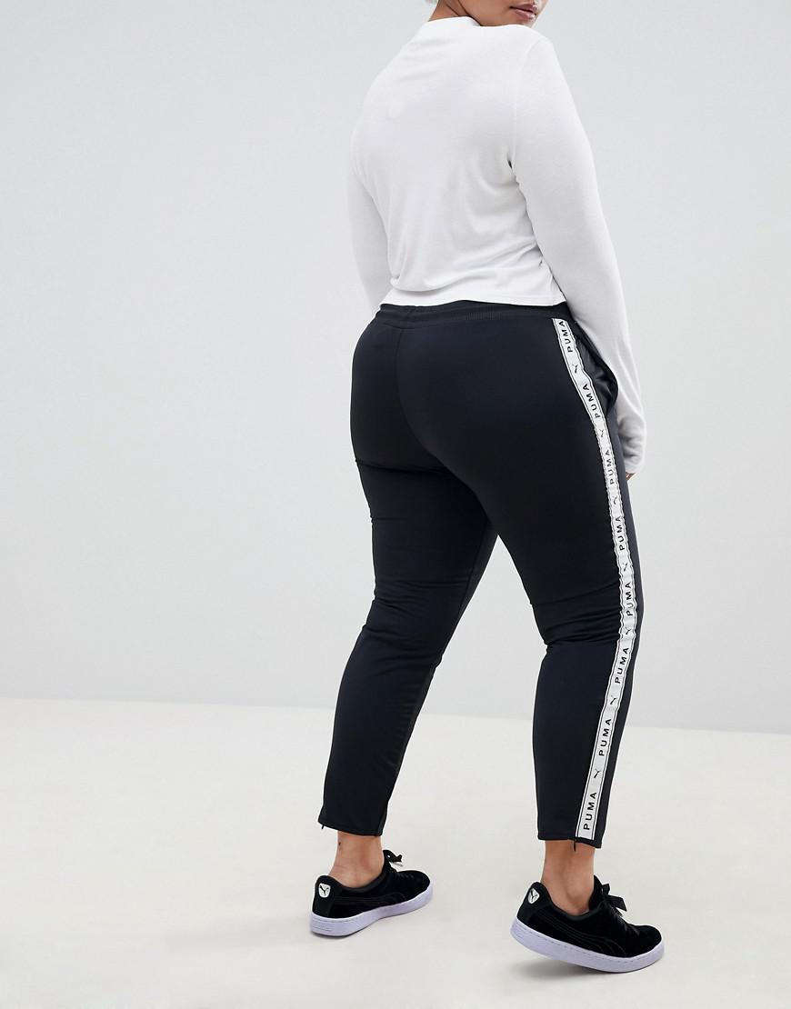 b088b058beb Lyst - PUMA Exclusive To Asos Plus Taped Side Stripe Track Pants In ...