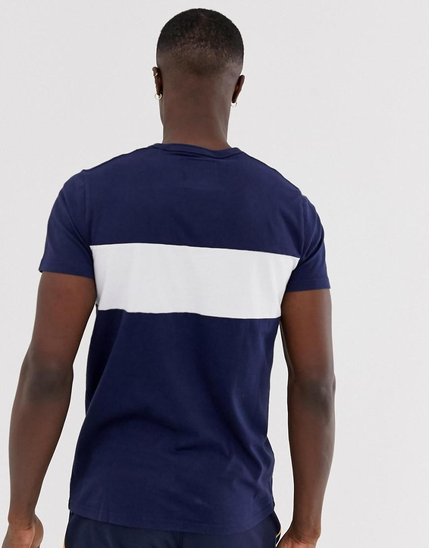 bc968ae5f Hollister Tech Logo Chest Panel T-shirt In Navy in Blue for Men - Lyst