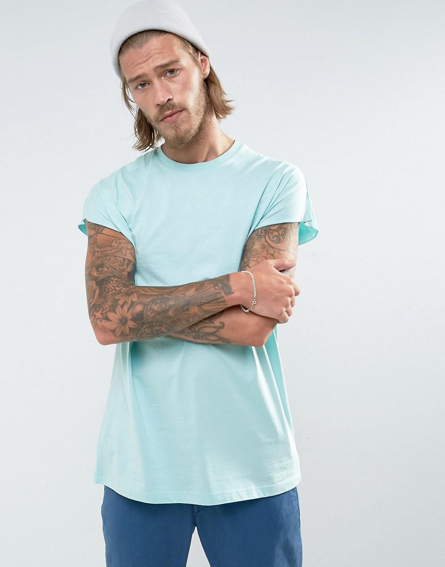 Oversized Sleeveless T-Shirt With Skull Print - Blue Asos Cheap Very Cheap Clearance Cheap Online SY6li1ZK