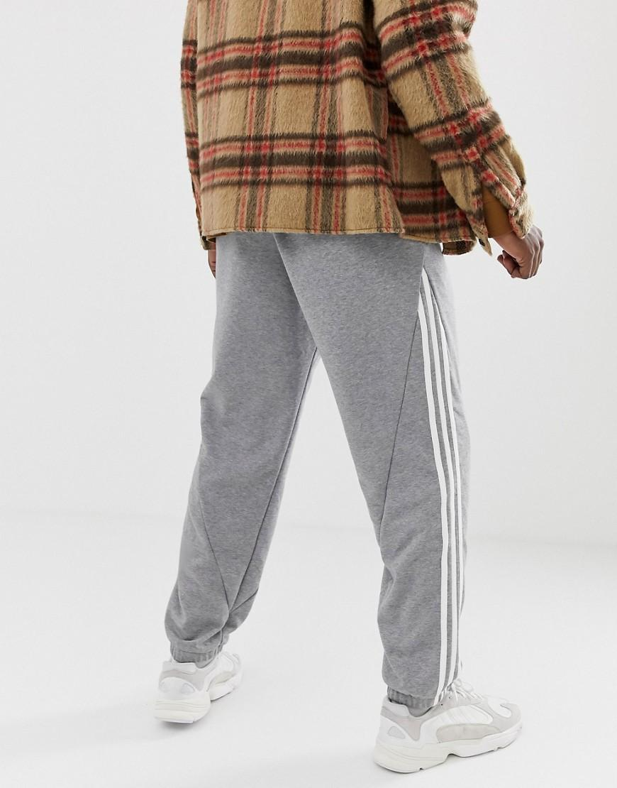 74465ac82b3 adidas Originals Joggers 3 Stripe Grey in Gray for Men - Lyst