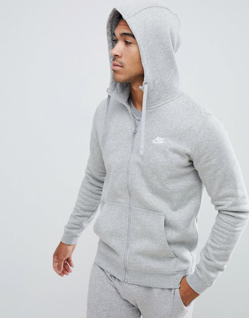 2d706252148582 Nike Zip Up Hoodie With Futura Logo In Grey 804389-063 in Gray for ...