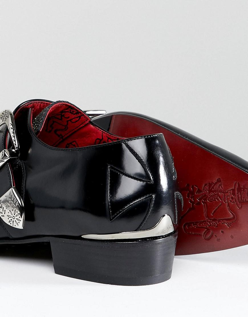 Jeffery Ouest Chaussures Moine Paillettes Fourmi Adam - Noir NTkPhuhT