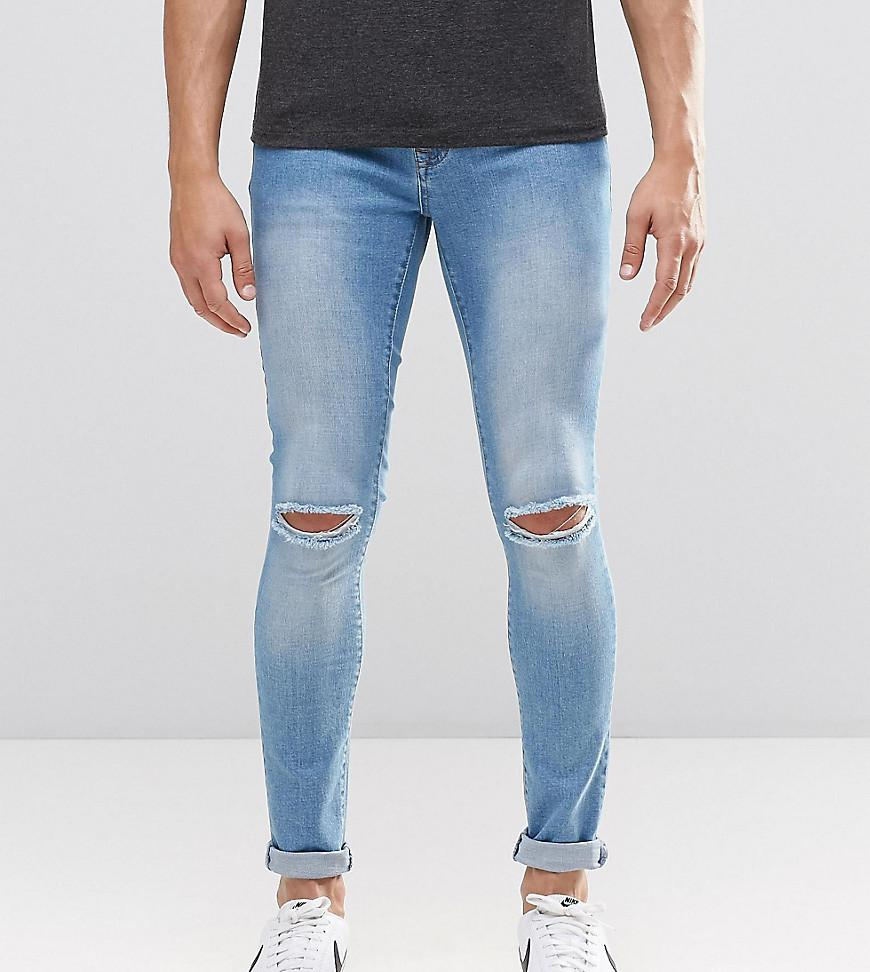 Brooklyn Supply Co Light Washed Denim Dyker Jeans With Knee Slit In Super  Skinny Fit - 514f204457