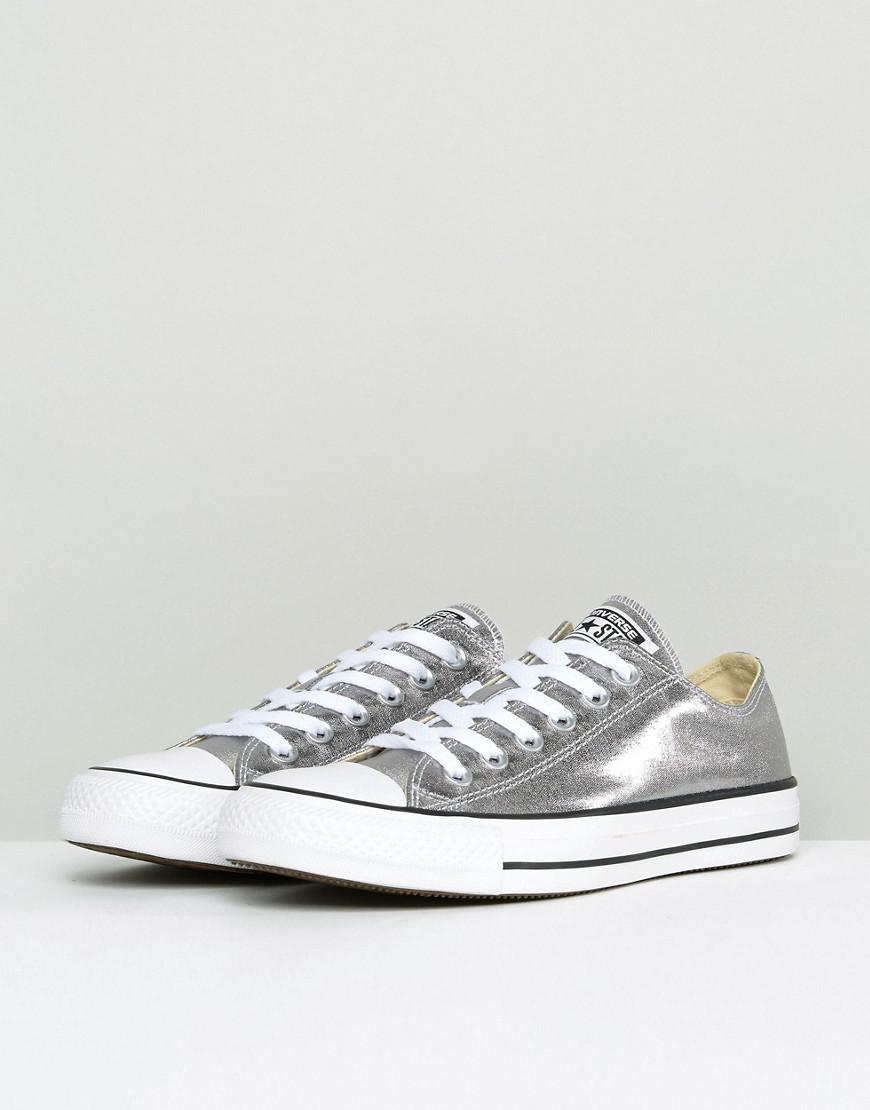 Lyst - Converse Chuck Taylor Ox Sneakers In Silver Metallic in Metallic bb64f581f
