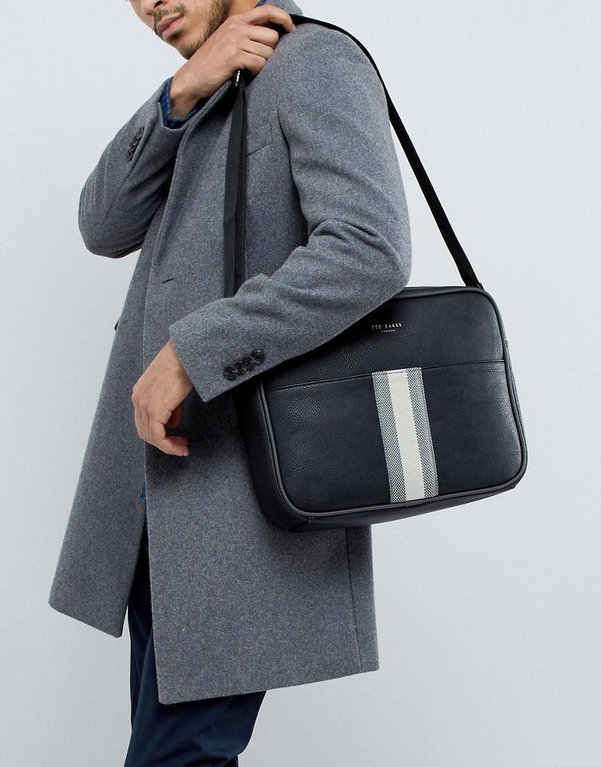 Ted Baker Delano Webbing Messenger Bag in Black for Men - Lyst 286b914a34