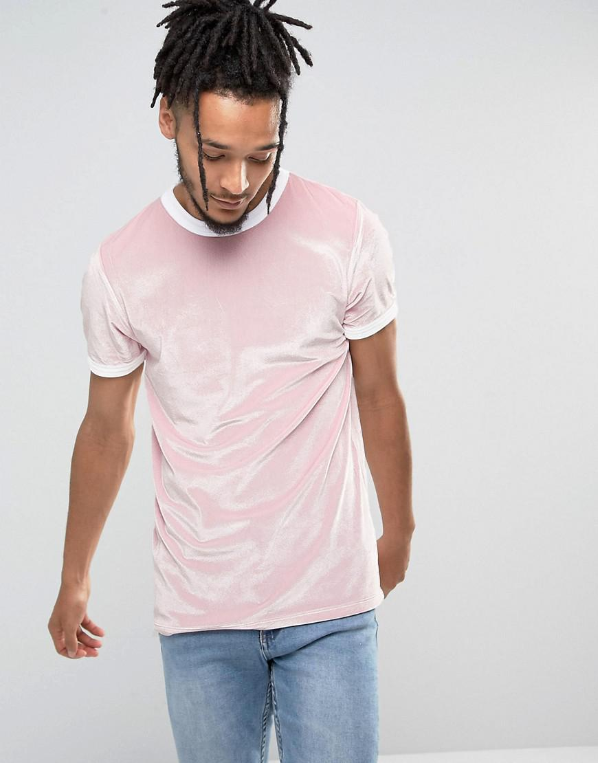 223fee3d61b2bd asos-Pink-Muscle-T-shirt-In-Velour-With-Contrast-Binding-In-Pink.jpeg