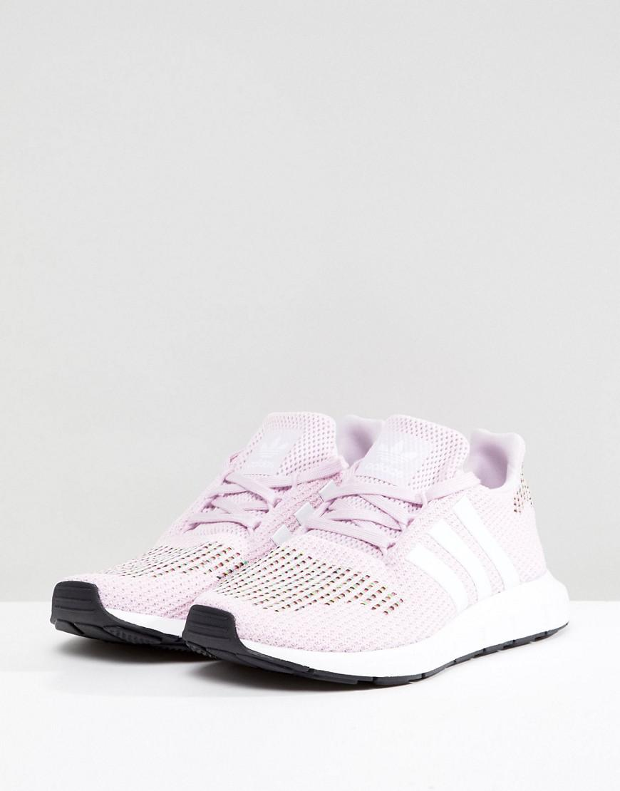 bc2064ac2c663 Lyst - adidas Originals Swift Run Sneakers In Pink Multi in Black