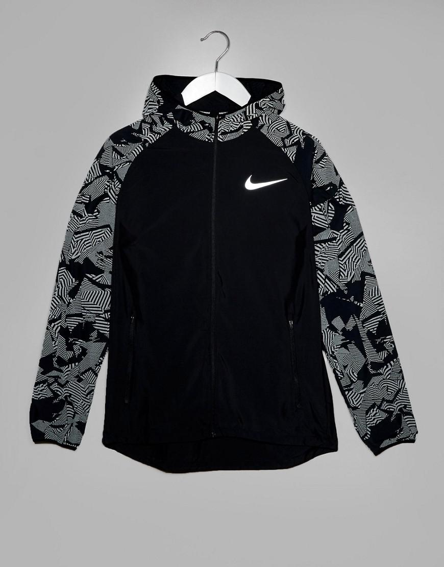 a95b5d8a0034d Nike Flash Reflective Jacket In Black 858151-010 in Black for Men - Lyst