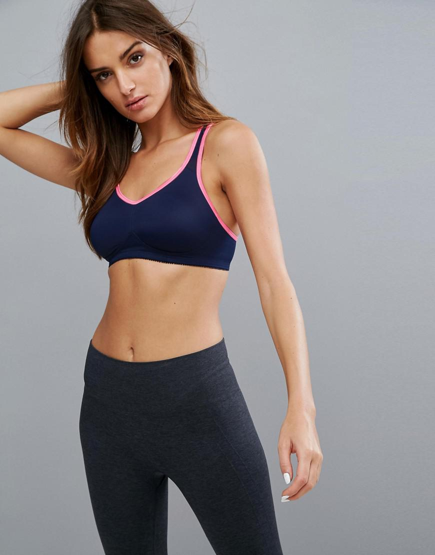 d652efafb29a5 Lyst - Dorina Flex Moulded Light Support Sports Bra in Blue