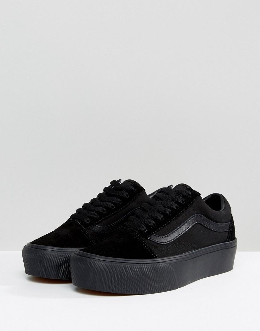 Vans Old Skool Triple Black Platform Sneakers in Black - Save 53% - Lyst 055c3a025