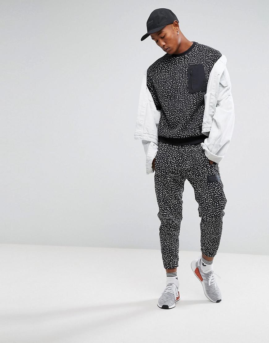 cb4c5e42a2170 Lyst - adidas Originals Nmd Pocket Crew Neck Sweat In Black Bs2494 ...