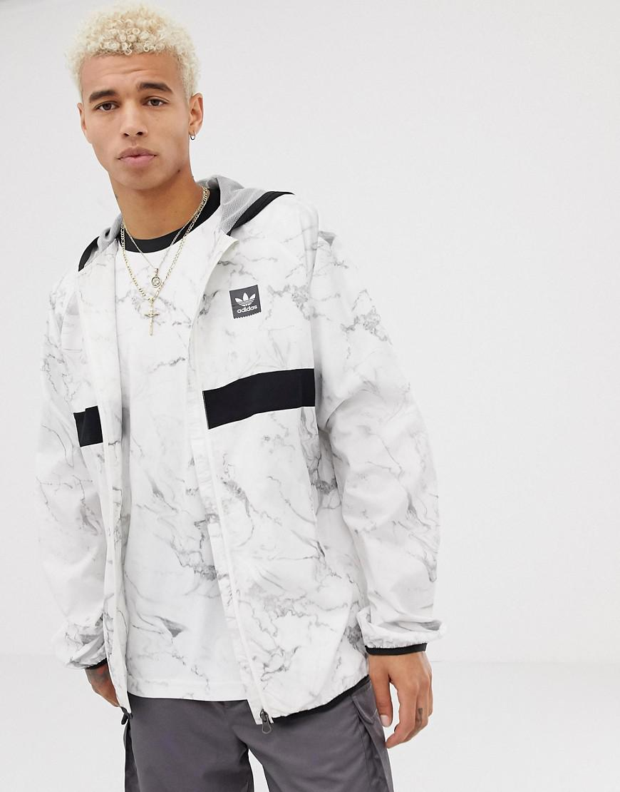 adidas Originals Marble Windbreaker In White Dh3880 in White for Men ... 40af87390a