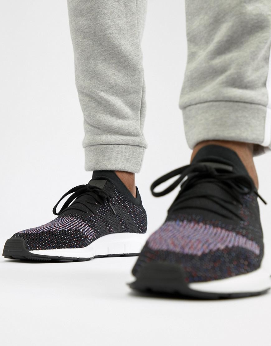 lyst adidas originals schnell laufen primeknit ausbilder in schwarz cq2894