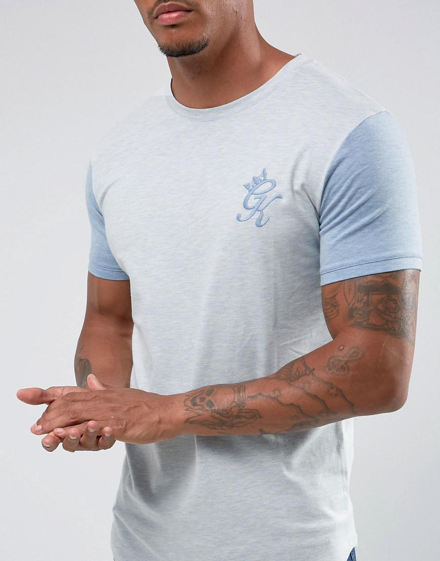 b359bb83d Gym King Muscle T-shirt In White With Blue Sleeves in White for Men ...