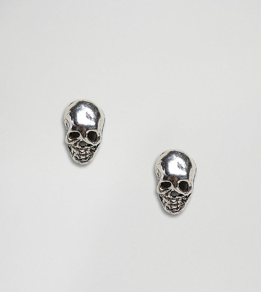 Sterling Silver Skull Ring - Silver Kingsley Ryan 2AUkxwZ6