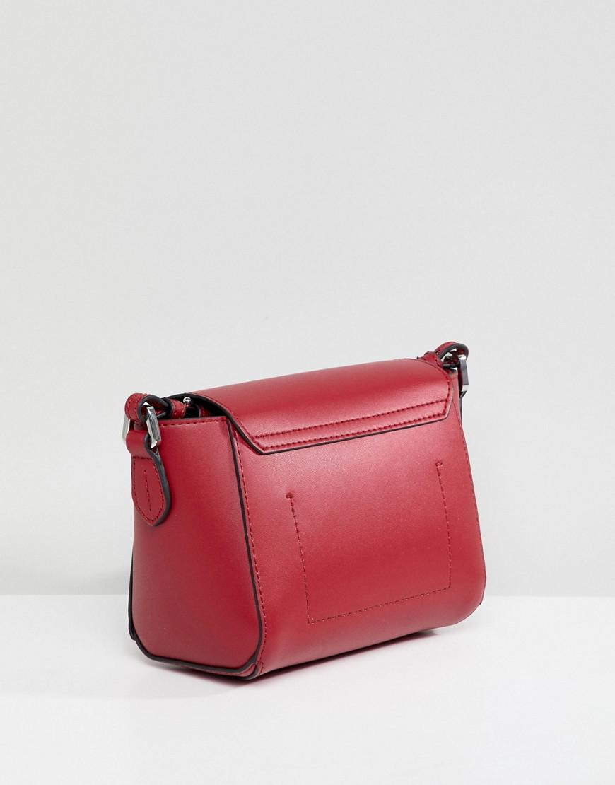 bcad88b0d7d8 Lyst - Emporio Armani Crossbody Bag With Signature Hardware in Red